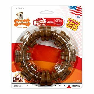 Nylabone Power Chew Bertekstur Dog Chew Ring Toy Flavour Medley Flavour X-Large / Souper - 50+ lbs.